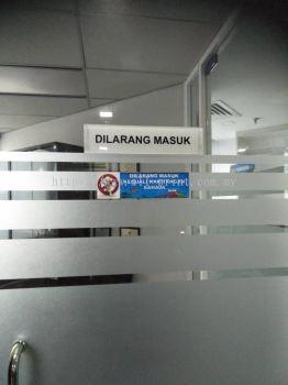 glass sticker office