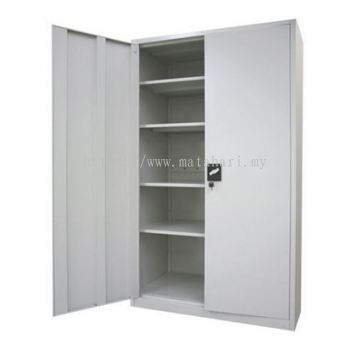 Full Height Cupboard with Steel Sliding Door C/W 3 Adjustable Shelves