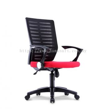LEAF 5B MEDIUM BACK MESH CHAIR C/W POLYPROYPLENE BASE