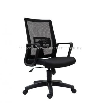 BENSON MEDIUM BACK MESH CHAIR C/W POLYPROPYLENE BASE