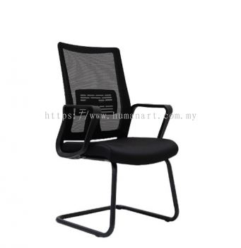 BENSON VISITOR MESH CHAIR C/W EPOXY BLACK CANTILEVER BASE