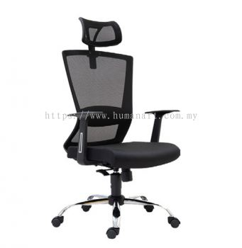 WILLY 1 HIGH BACK MESH CHAIR C/W CHROME METAL BASE