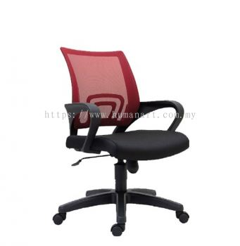 UNI LOW BACK MESH CHAIR C/W POLYPROPYLENE BASE