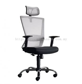 WILLY 2 HIGH BACK MESH CHAIR C/W CHROME METAL BASE
