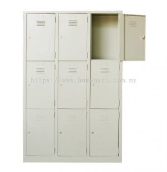 A105-A 9 COMPARTMENT STEEL LOCKER