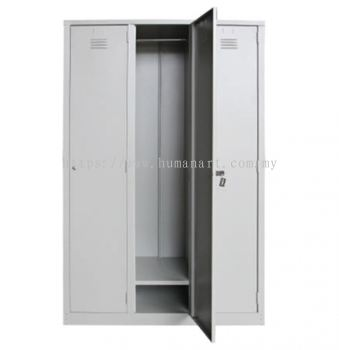 A140-A 3 COMPARTMENT STEEL LOCKER