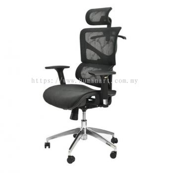 ATHENS HIGH BACK FULLY MESH CHAIR C/W ALUMINIUM DIE-CAST BASE