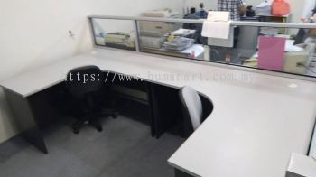 DELIVERY INSTALLATION COMBINE WRITING TABLE WOODEN BASE OFFICE FURNITURE PJ OLD TOWN, PETALING JAYA