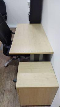 DELIVERY INSTALLATION RECTANGULAR WRITING TABLE & STANDARD CHAIR OFFICE FURNITURE SUNWAY DAMANSARA