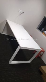 DELIVERY INSTALLATION RECTANGULAR WRITING TABLE OFFICE FURNITURE PANDAN INDAH