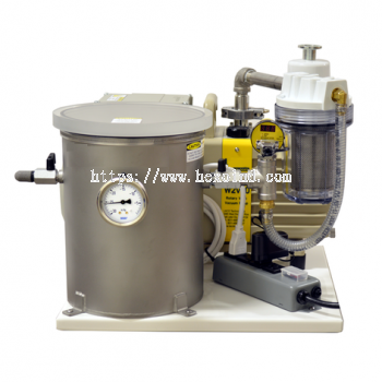 """8"""" X 10"""" Tabletop Degassing System (Two Stage Rotary Vane Pump / 3 CFM)"""