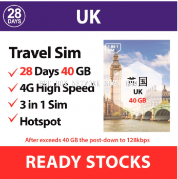 UK 28 days - 40 GB / 65V43