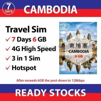 Cambodia 7 days - 6GB / 20Y22