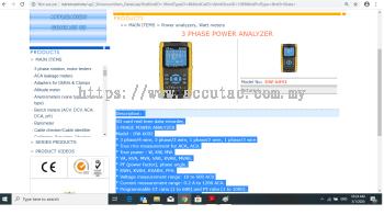 3 PHASE POWER ANALYZER DW-6092
