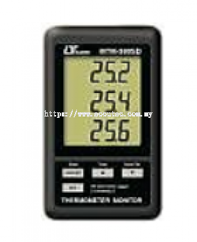 THERMOMETER DATA RECORDER, 3 channels, type K Temp, SD Card real time data recorder MTM-380SD
