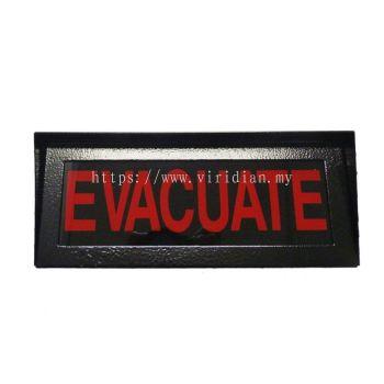 Evacuate Sign (D-110)