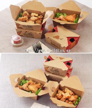 Kraft Printed Food Box