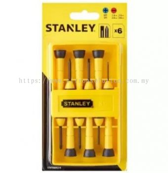 STANLEY 6PCS BI-MAT PRECISION SCREWDRIVER SET STHT66052-8