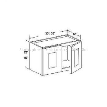 """Wall Cabinet - 12""""H & 15""""H"""