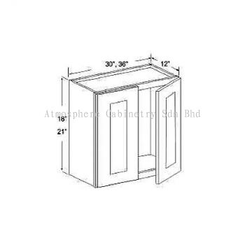 """Wall Cabinet - 18""""H & 21""""H"""