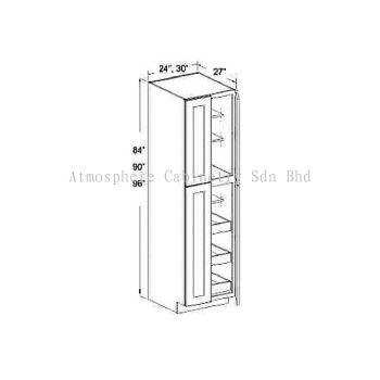 "Pantry Cabinet - 84""/90""/96""H (4 Doors)"