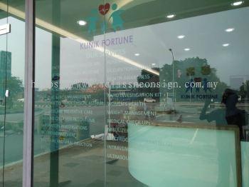 Klinik Fortune Glass Sticker