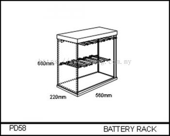 PD58 BATTERY RACK