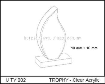 U TY 002 TROPHY - Clear Acrylic