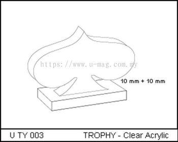 U TY 003 TROPHY - Clear Acrylic