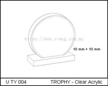 U TY 004 TROPHY - Clear Acrylic
