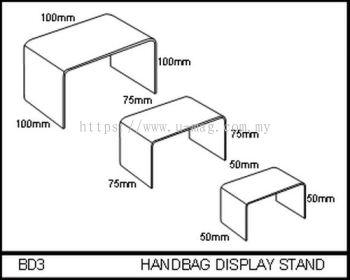 BD3 HANDBAG DISPLAY STAND