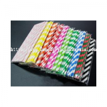 6mm Colour Paper Straw With Wrapper
