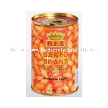 Rex Baked Beans In Tomato Sauce (24 x 425 gm)