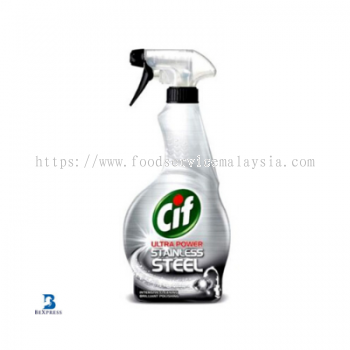 CIF Ultra Power Stainless Steel Cleaner (6 x 450 ml)