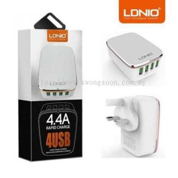 LONIO LDNIO USB 4.4A Fast Charge Adapter LED Touch Lamp