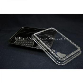 Plastic Bento Box Take Away 3 / 4 / 5 Compartment Wholesale
