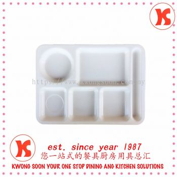 6 Compartment Tray (Melamine) Product Malaysia Code: 1514