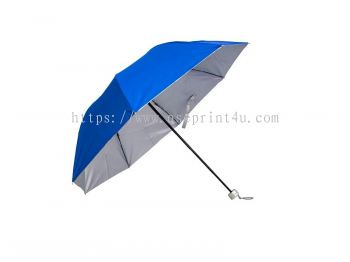 U7025 - 3 Fold Manual Open Umbrella