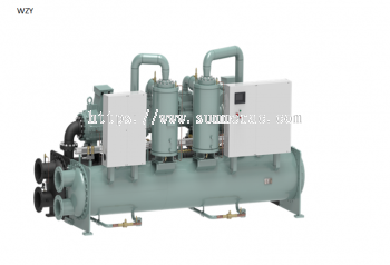 Hitachi Water-Cooled Screw Chiller R134A Flooded Type RCUF-WZY Series, 102 ~520 RT
