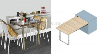 Pull Out Extension Table With Leg
