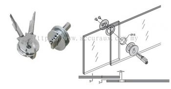 Push Type Sliding Glass Door Lock