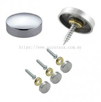 Flat Mirror Screw, Chrome
