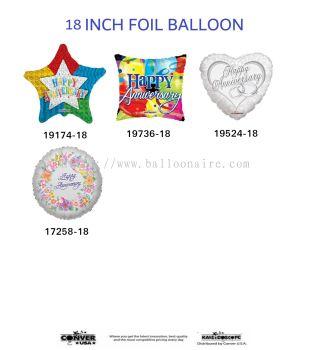 (ANNIVERSARY) 18 INCH KALEIDOSCOPE FOIL BALLOON