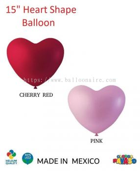 "15"" HEART SHAPE BALLOON (100 pcs/pkt)"