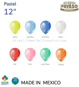 """12"""" PASTEL COLOR BALLOON (100 PCS/PKT)"""