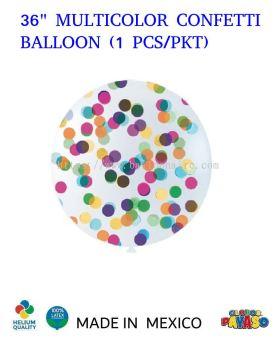 """36"""" MULTICOLOR CONFETTI BALLOON (1 PCS/PKT)"""