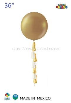"""36"""" METALLIC GOLD BALLOON KIT + TASSEL (1 PCS/PKT)"""