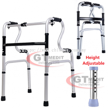 ��  RM75.00   ����Height Adjustable��Foldable Quad Cane Walker Crutch Walking Frame Mobility Aid Stick Toilet Safety Grab Handle / Tongkat