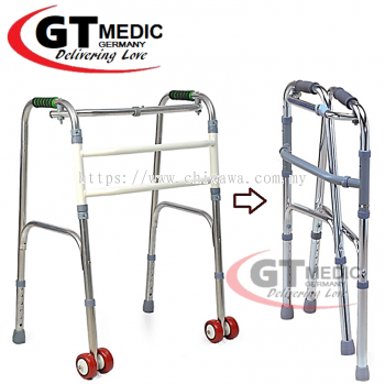 ��RM 97����Height Adjustable��Pulley Quad Cane Walker Crutch Aid Mobility Stick / Tongkat
