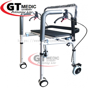 ��   RM230.00 ����Height Adjustable��Quad Cane Walker Crutch Aid Mobility Stick Wheelchair Wheel Chair + Seat / Tongkat
